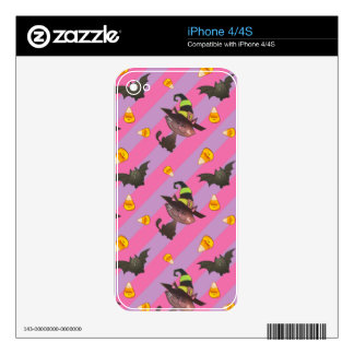 Happy Little Halloween Bat and Cat Decals For The iPhone 4