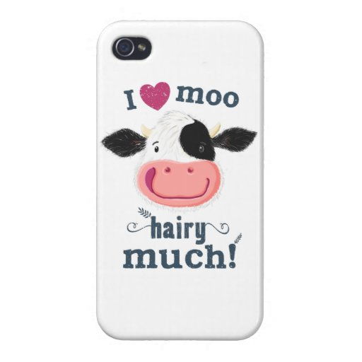 Happy Little Holstein Cow Loves Moo! Case For iPhone 4