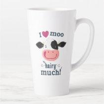 Happy Little Holstein Cow Loves Moo! Latte Mug
