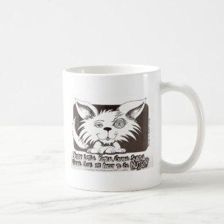 Happy Little Kitten About to Go Nutso v2 copy Mugs