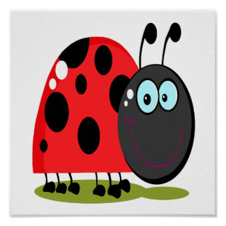 happy little lady bug poster