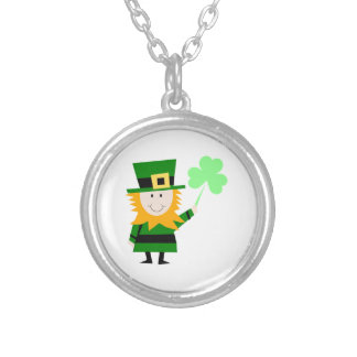 Happy Little Leprechaun Silver Plated Necklace