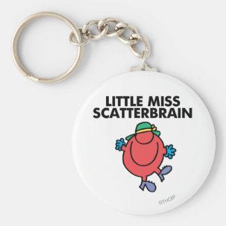 Happy Little Miss Scatterbrain Basic Round Button Keychain