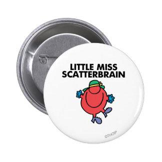 Happy Little Miss Scatterbrain Button