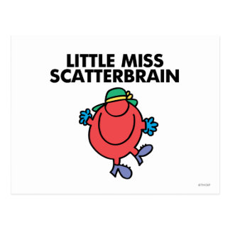 Happy Little Miss Scatterbrain Postcard