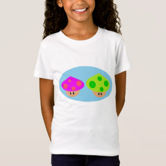 Happy Little Mushrooms Girls Baby Doll (Fitted) T-Shirt