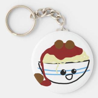Happy Little Pasta Bowl Basic Round Button Keychain
