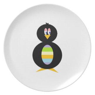 Happy Little Penguin Melamine Plate