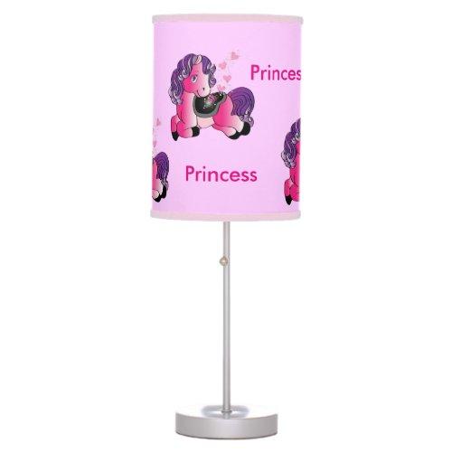 Happy little pink pony princess desk lamps