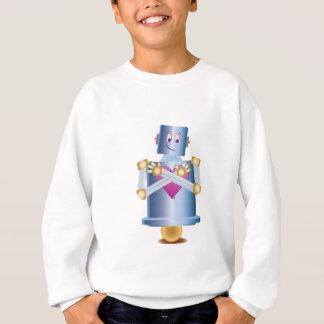 happy little robot sweatshirt