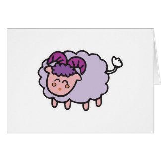 happy little sheep card