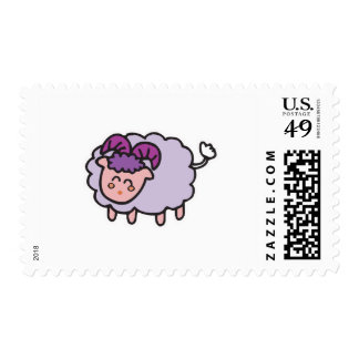 happy little sheep postage stamps