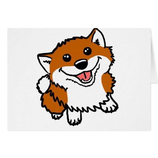 Happy Little Shiba Greeting Cards