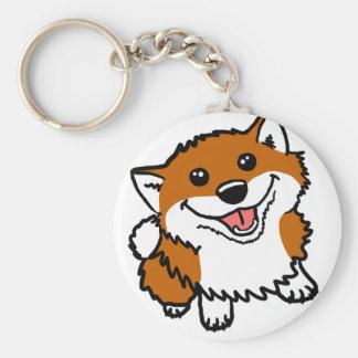 Happy Little Shiba Keychain