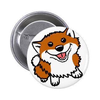 Happy Little Shiba Pinback Button
