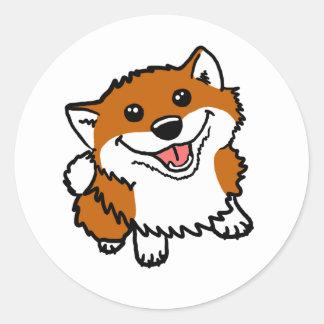 Happy Little Shiba Round Sticker