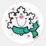 happy little snowflake sticker