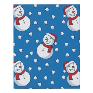 Happy LIttle Snowmen Faux Canvas Print