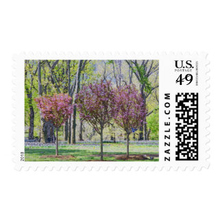 Happy Little Trees in Central Park Postage