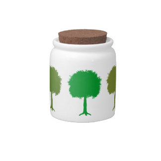Happy Little Trees Jars Candy Jar