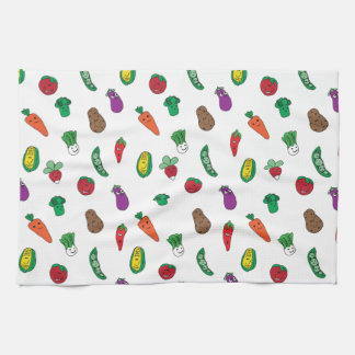Happy Little Veggie Friends Kitchen Towel