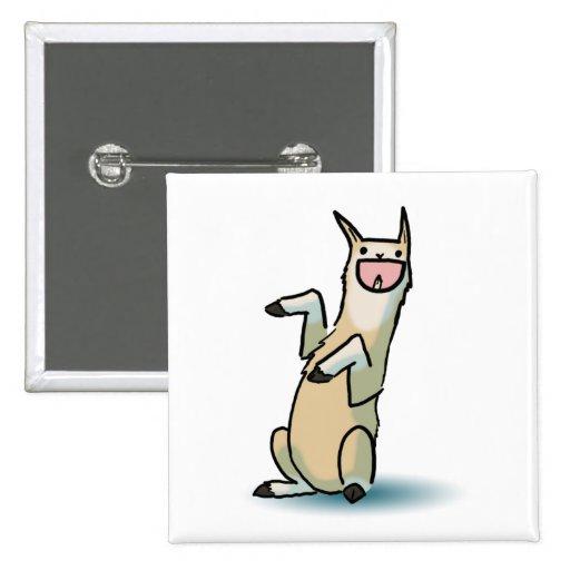 Happy Llama 2 Inch Square Button