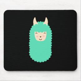 Happy Llama Emoji Mousepad