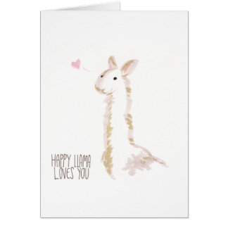 Happy Llama Loves You Card