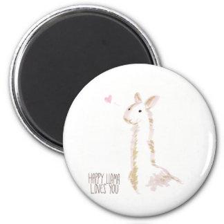Happy Llama Loves You Magnets