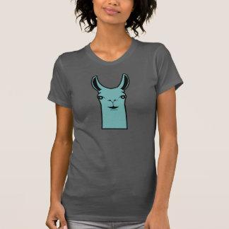 Happy Llama Teal Drawing T-Shirt
