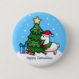 Happy Llamadays Button