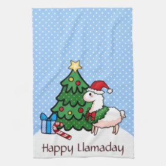 Happy Llamadays Hand Towel