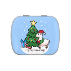 Happy Llamadays Jelly Belly Tin at Zazzle
