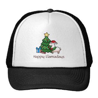 Happy Llamadays Trucker Hat