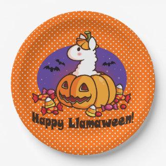 Happy Llamaween 9 Inch Paper Plate
