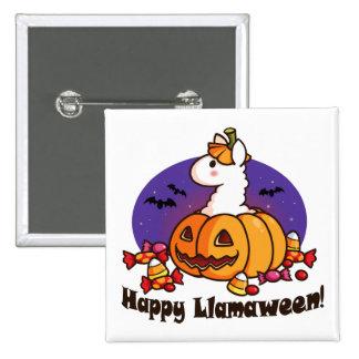Happy Llamaween Pinback Button