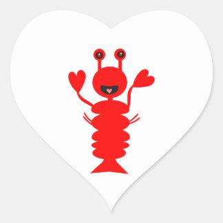 Happy Lobster Heart Sticker
