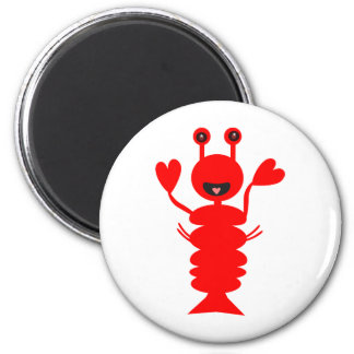 Happy Lobster Fridge Magnets