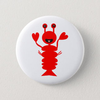 Happy Lobster Pinback Button