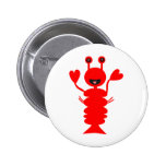 Happy Lobster Pinback Buttons