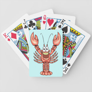 Happy Lobster Shellfish Playing Cards