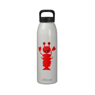 Happy Lobster Water Bottle