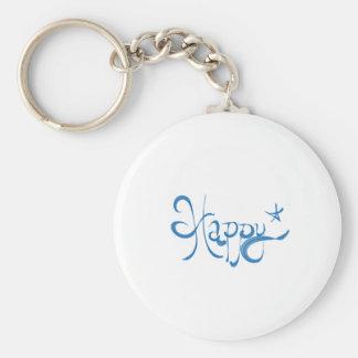 Happy * logo keychain