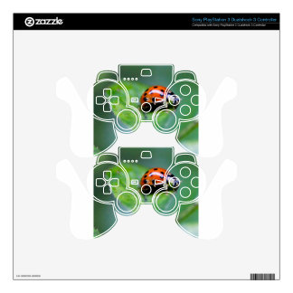 happy lonely lady bug PS3 controller skin