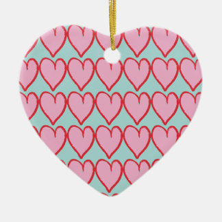 Happy love Double-Sided heart ceramic christmas ornament