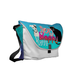 Happy Love Pet Bag in Blue and Purple