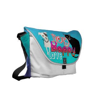 Happy Love Pet Bag in Blue and Purple Messenger Bag