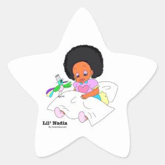 Happy&Lovely Lil'l Nadia Pegatina En Forma De Estrella