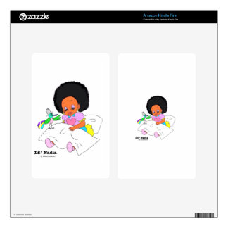 Happy&Lovely Lil'l Nadia Pegatinas Skins Para Kindle Fire