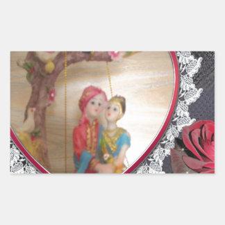 Happy Lovers day Rectangular Sticker